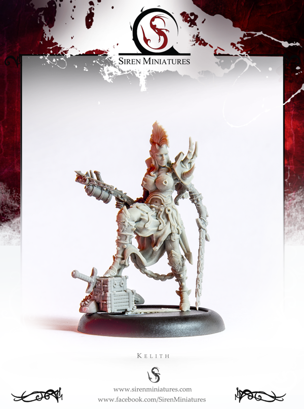Kelith - Fantasy female demon miniature