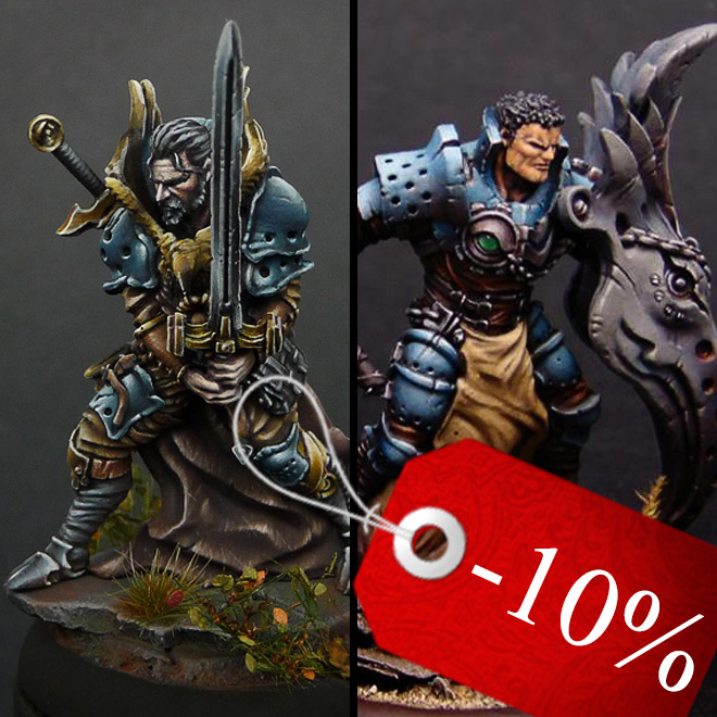 Eagle guard - Fantasy knight miniatures bundle