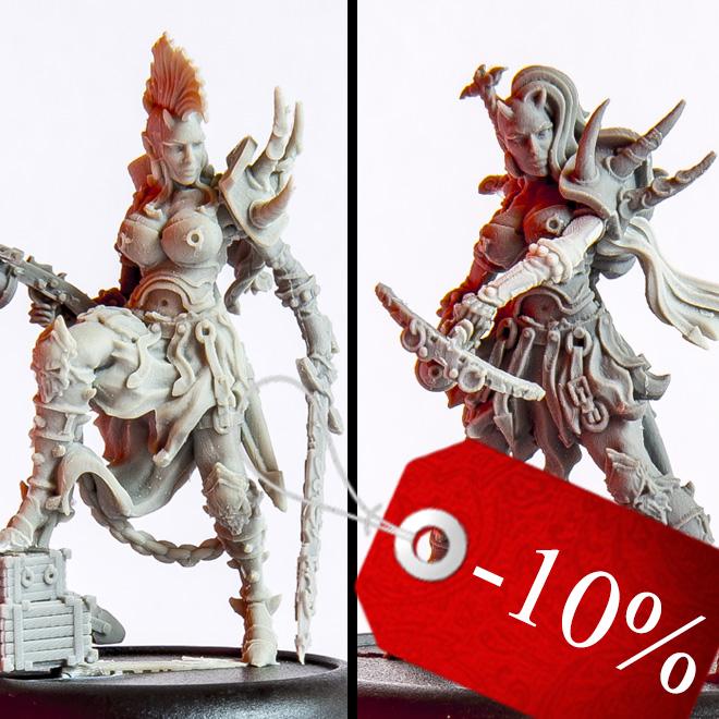 Kelith Naebo Fantasy female miniatures bundle