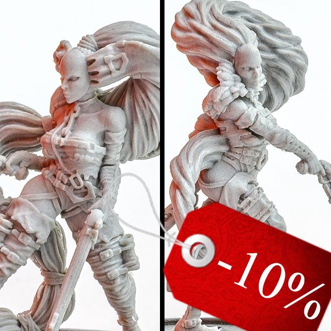 Sisater of no mercy - Fantasy female warriors miniatures bundle