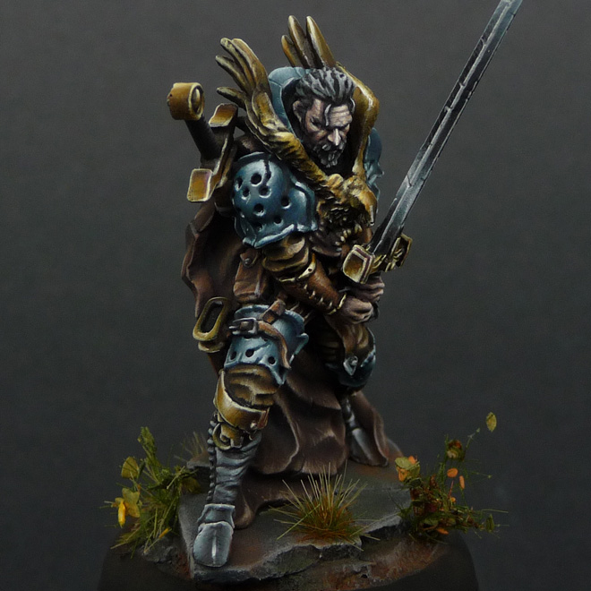 Syle fantasy eagle knight miniature