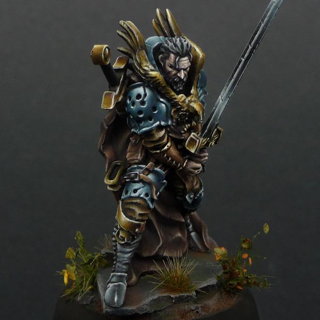Syle fantasy eagle knight miniature